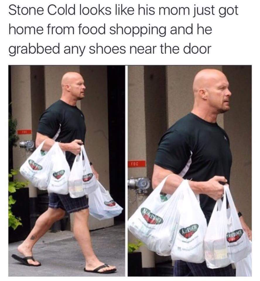 Stone Cold Shopping - meme
