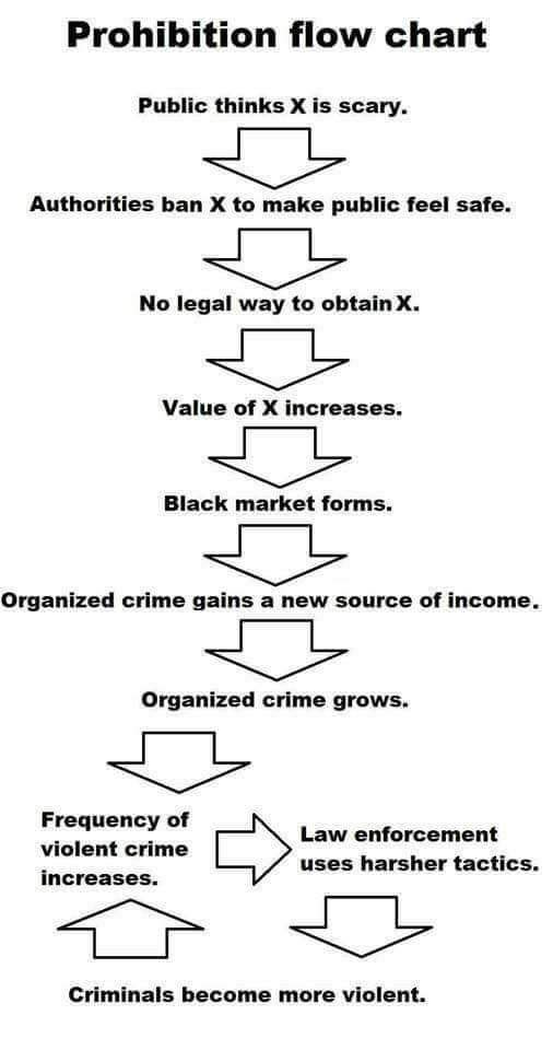 Black markets are a cause of government intervention. - meme