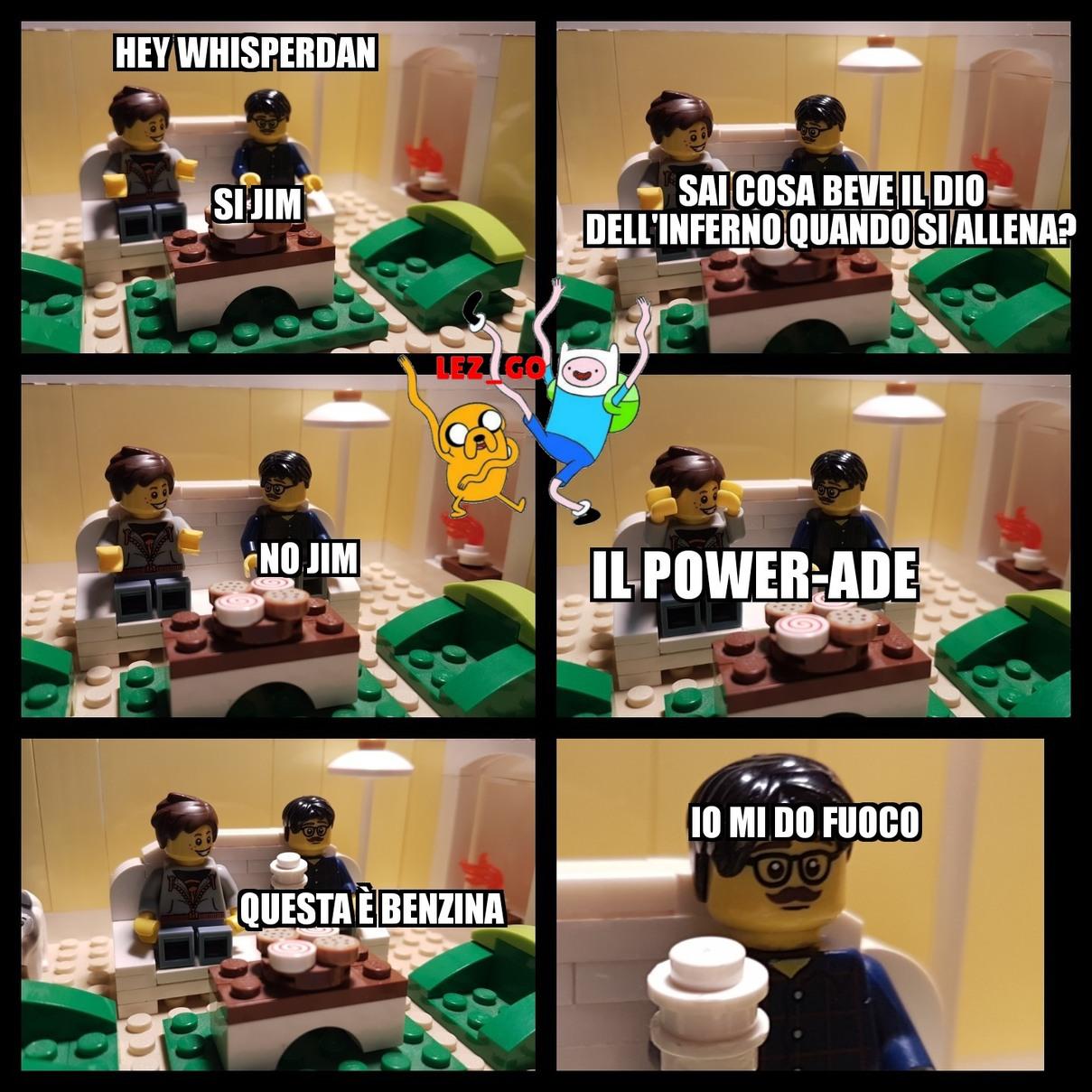 Powerade Lego cito BiMbo TerrOriSta666,RainerGaming,Tre5.0,M1K1 e UnTrollSelvatico - meme
