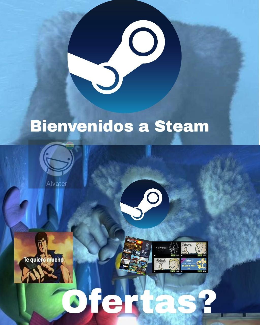 Te quiero mucho steam - meme