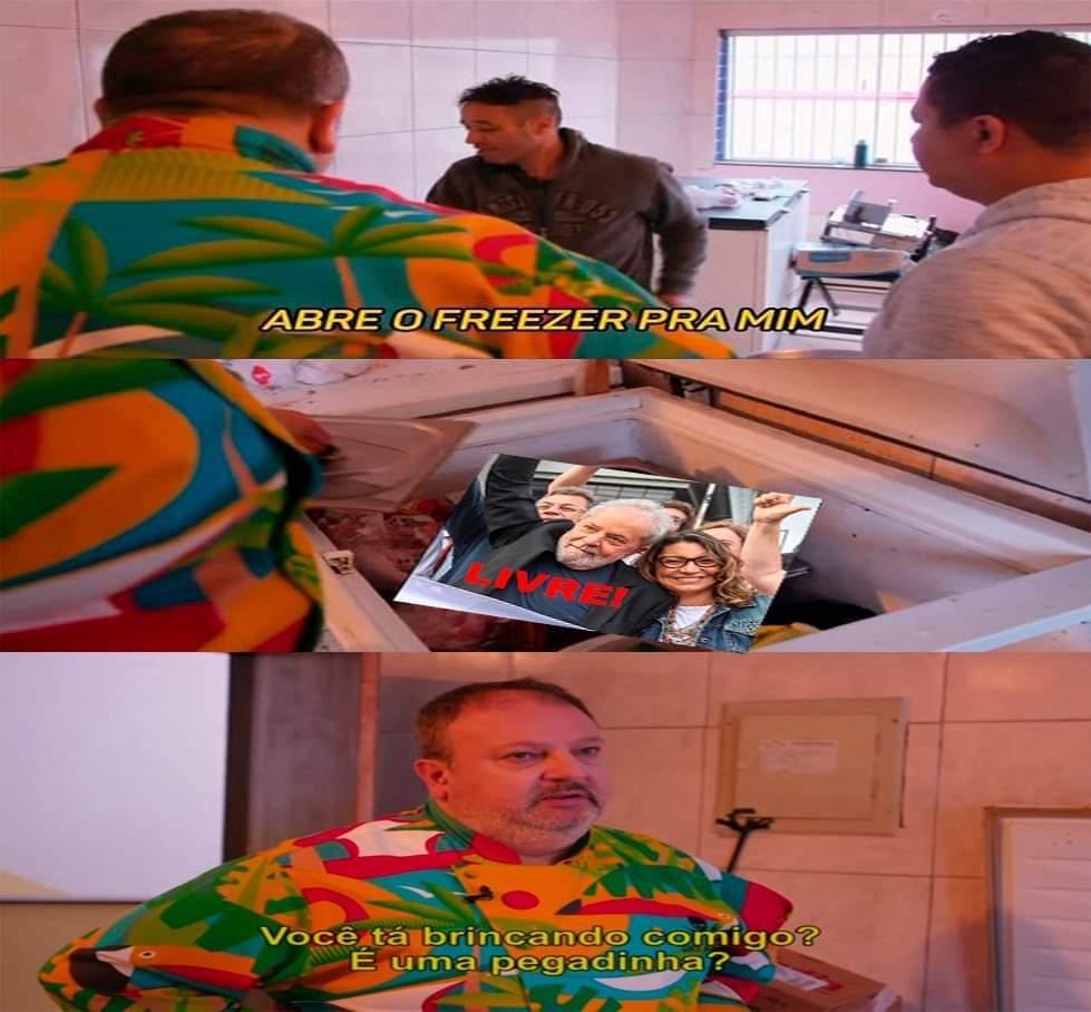 Lula preso de novo - meme