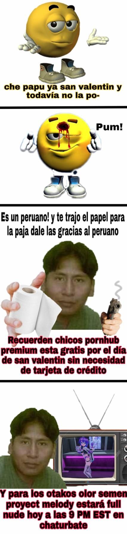 Que? Noo peruano eso es revirgo porque lo haces porque?! Nooooo - meme