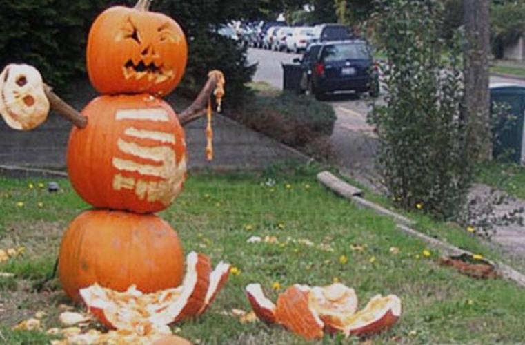 Spooky Pumpkin Man - meme