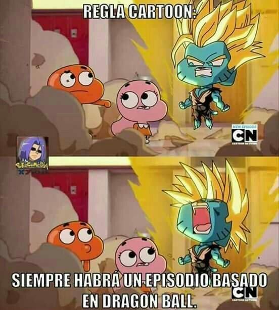El increíble mundo de Dragonball - meme