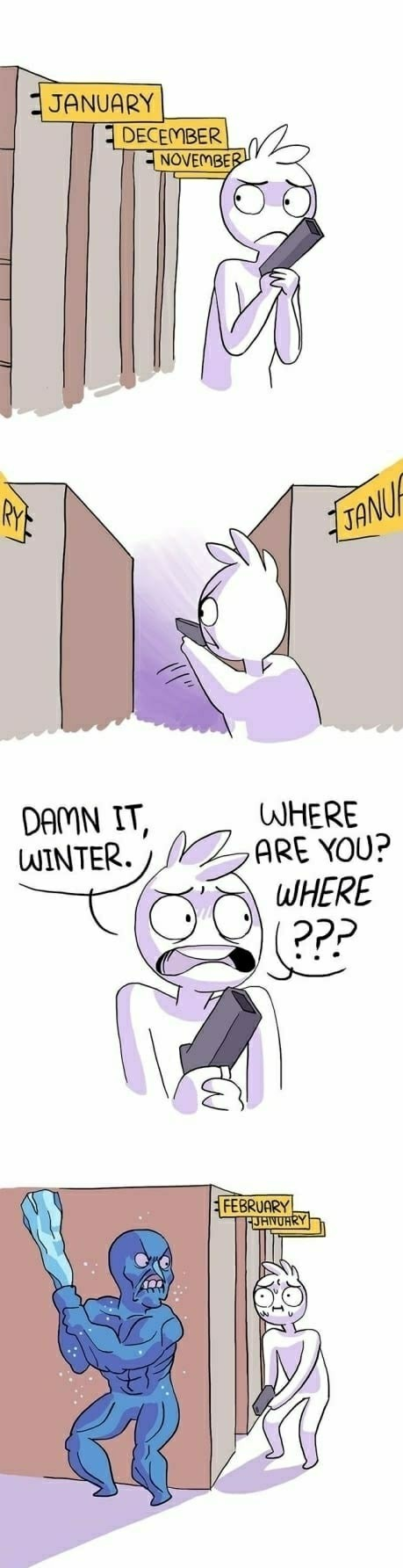 I hate winter - meme