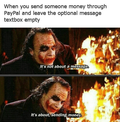 Money lives in a society - meme