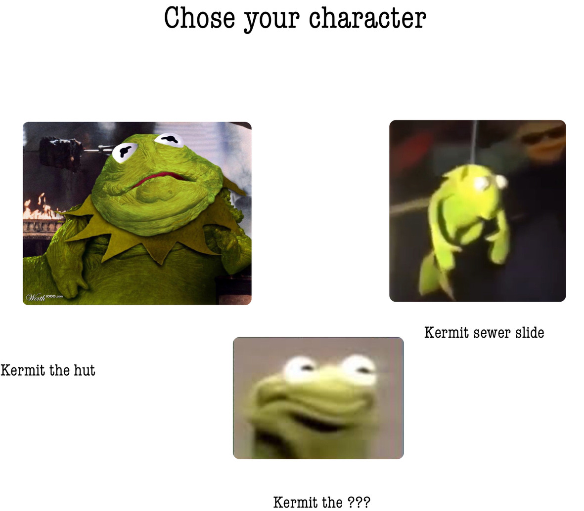 Choose your character - meme