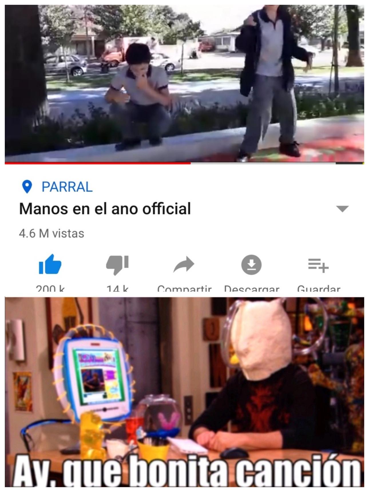 MANOS EN EL ANO - meme