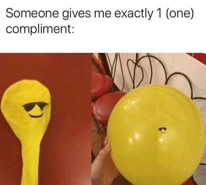Compliment issues - meme