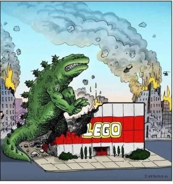 Godzilla damn that hurts. - meme