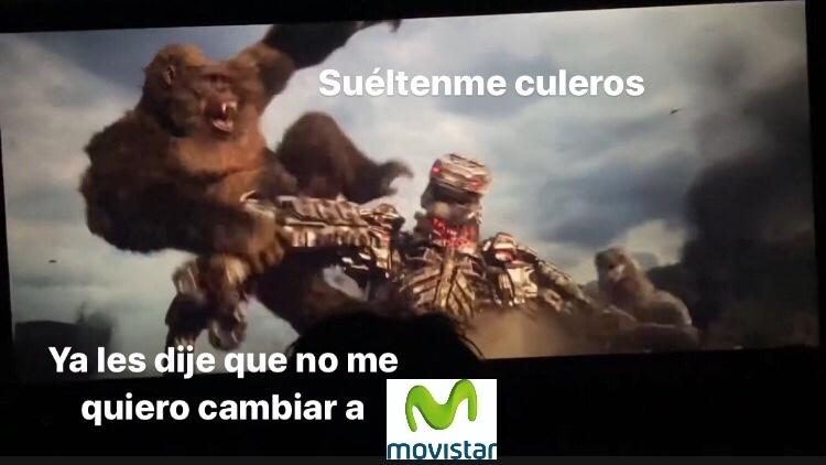 ya se filtró Godzilla vs Kong - meme