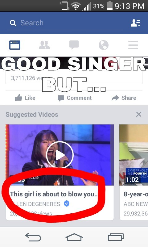 This girl has an amazing voice but wrong timing... - meme