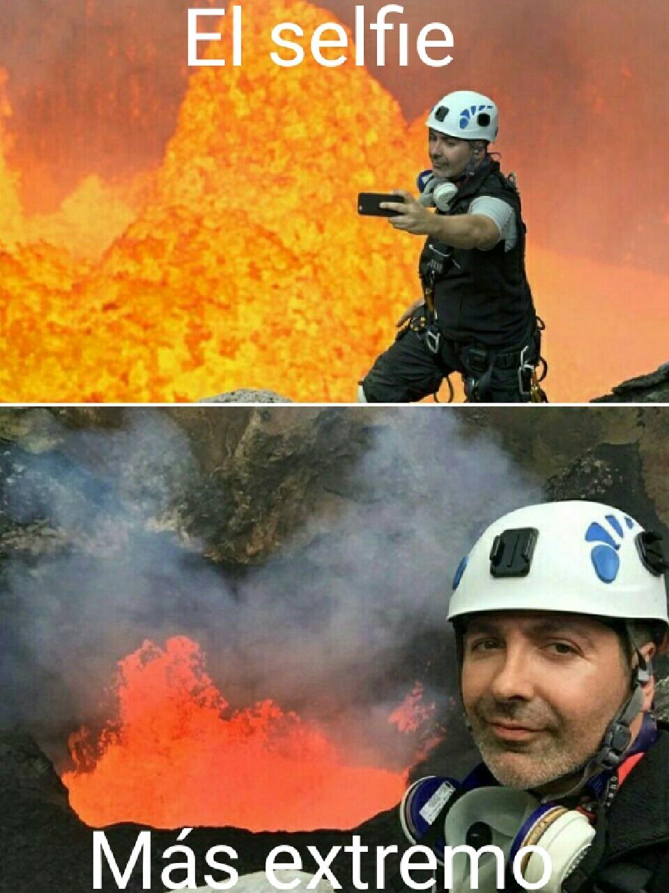 Extreme selfies - meme