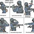 Swat team signals