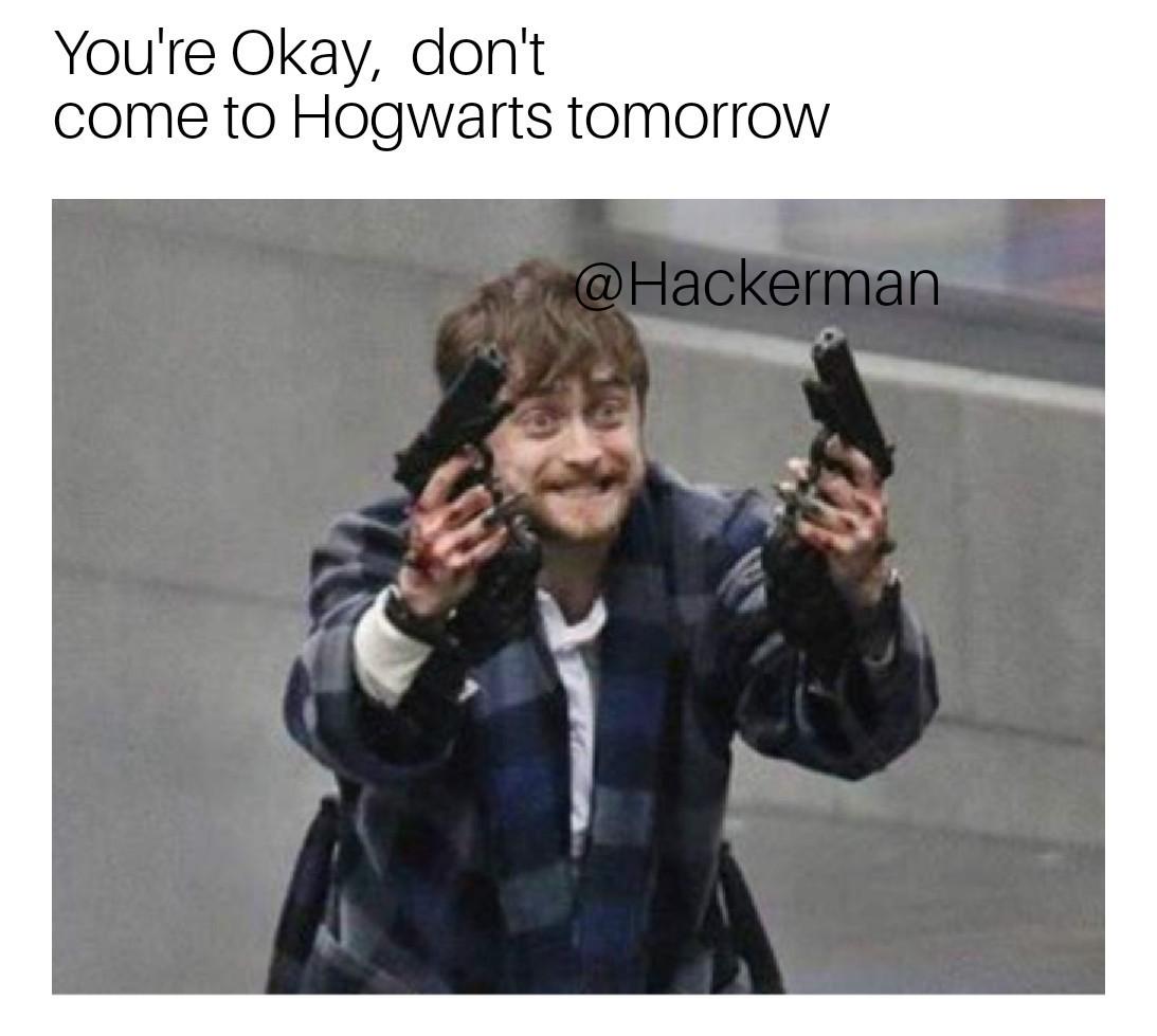 Harry going Hotline Miami mode - meme
