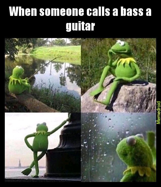 Life of a bassist - meme