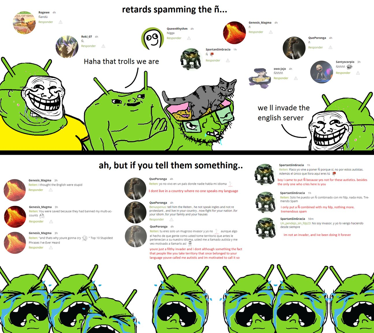 trollodroiders crying, again - meme
