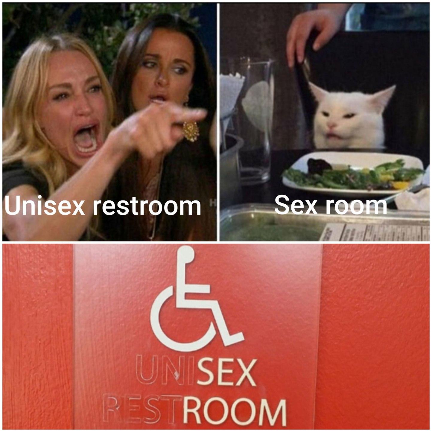 Unisex room - meme