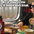 My work breaks.