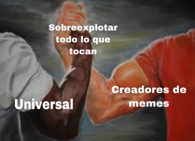 El título fue sobreexplotado - meme