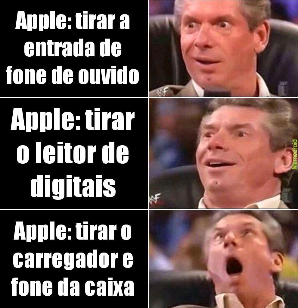 Ainda bem que sou pobre e não compro coisa da Apple - meme