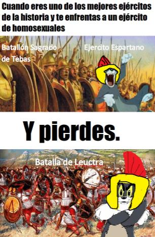 El Batallón Sagrado Tebano - meme