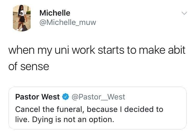 Where're the uni kids at? - meme