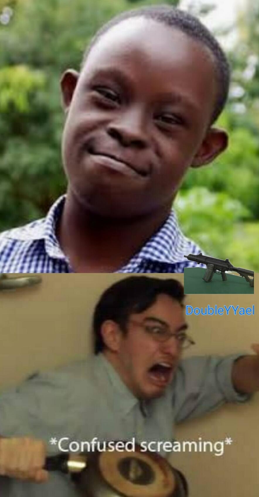 Negro con síndrome de down - meme