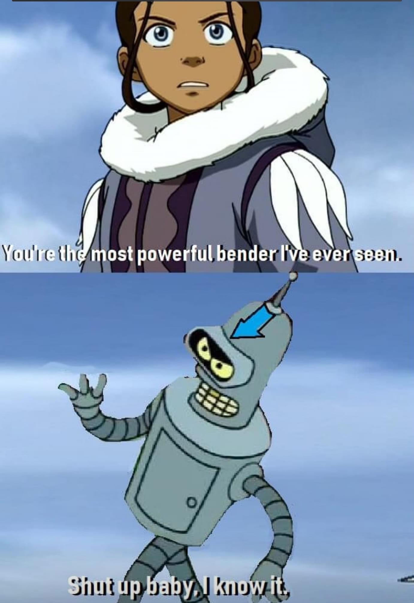 Bender is the GOAT - meme