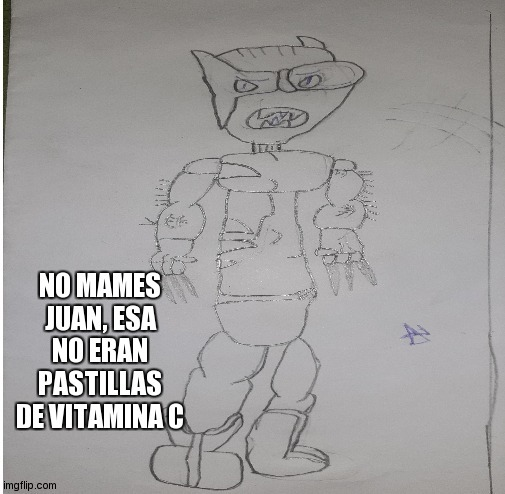 Dibujo hecho por mi a los 7 años. Quedo realista - meme