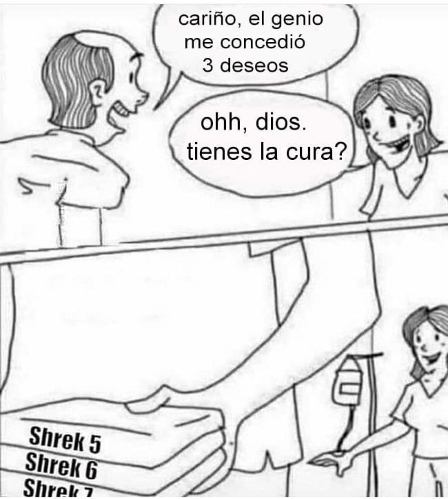 Shrek 5, Shrek 6 y Shrek 7 - meme