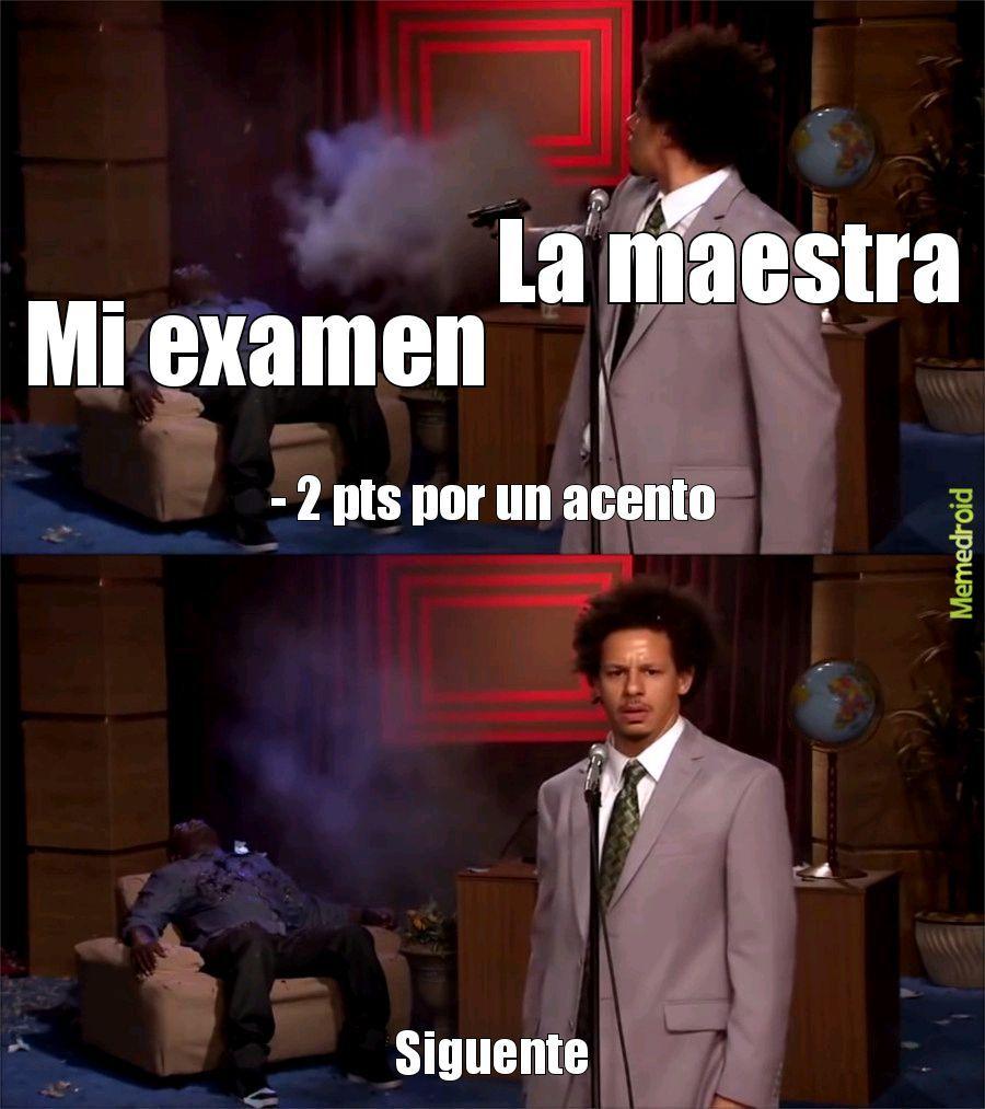 Dictadura escolar - meme