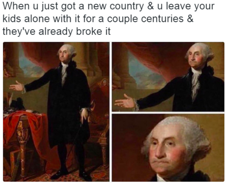 Washington is disappointed - meme