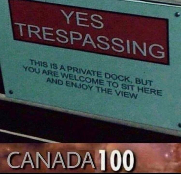 yes trespassing - meme