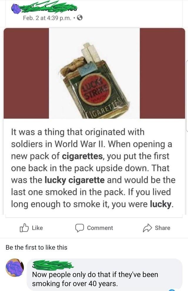 Cigarette - meme