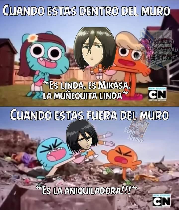 Mikasa es tu casa - Meme subido por CSIImiami :) Memedroid
