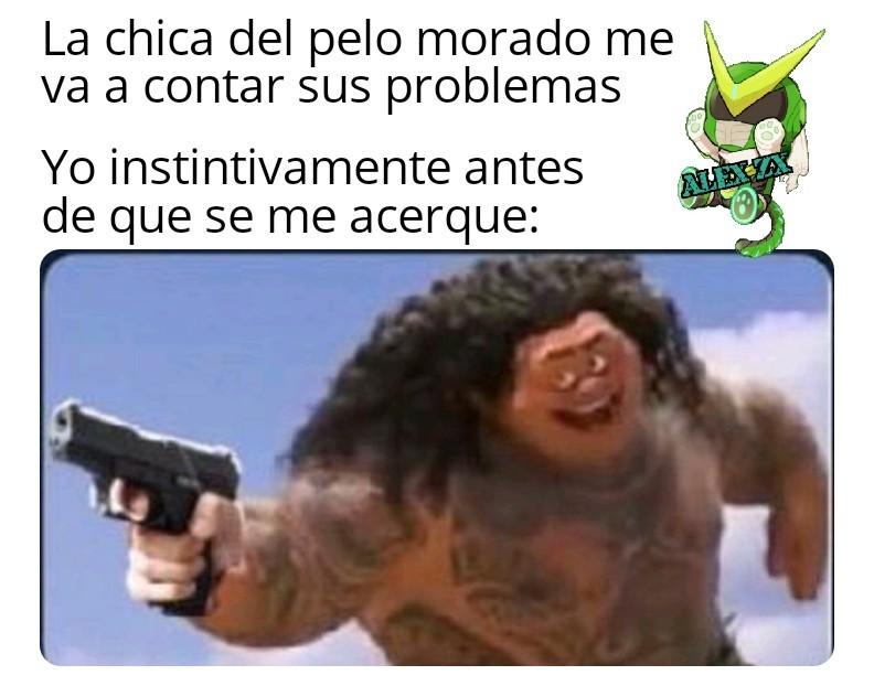 Ultra instinto activado con una pistola - meme