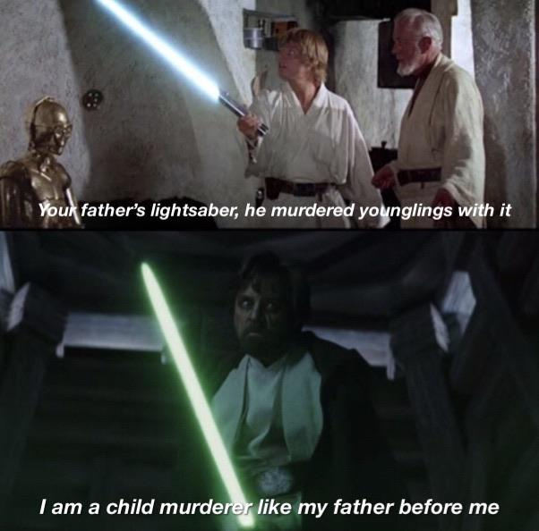I am a child murderer like my father before me - meme