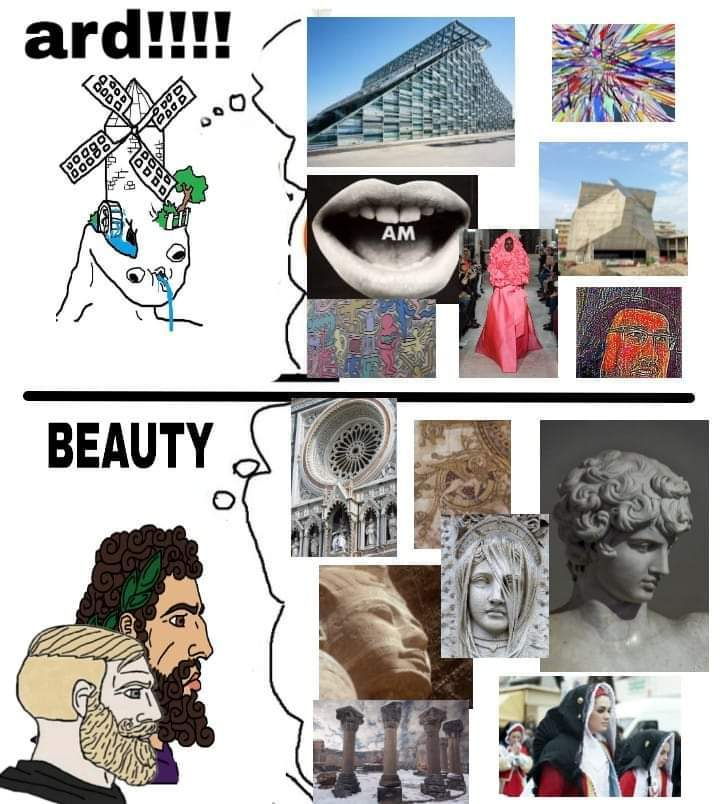 Arte do passado era foda - meme