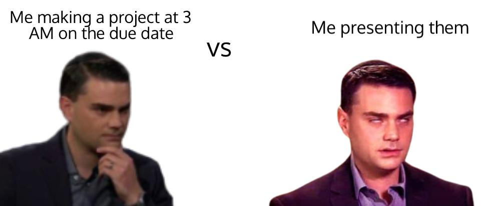 Presentation of a presentation - meme