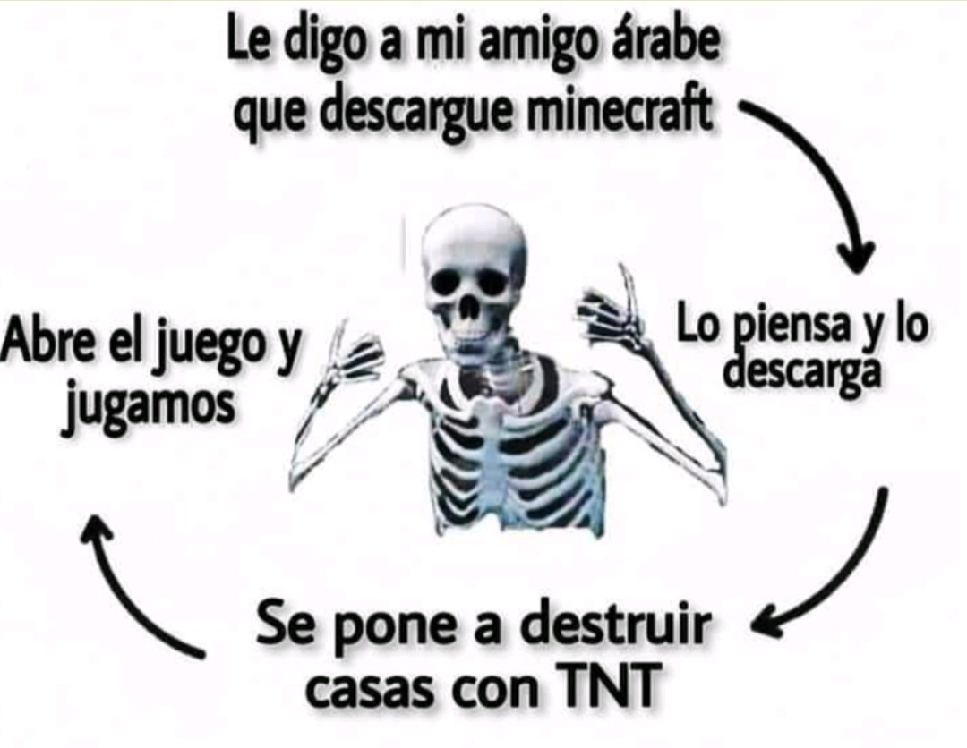 Creepers hacer boom - meme