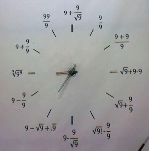 Que horas são? São raiz de nove mais nove menos nove - meme