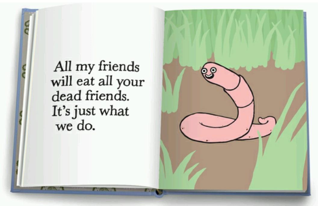 Die to feed the miserable worm. Die a hero - meme