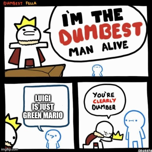 luigi is a person - meme