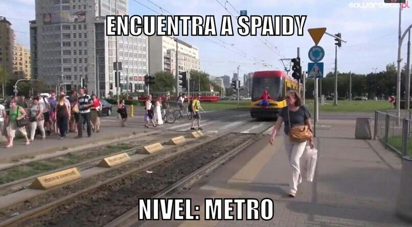 En el metro :v - meme