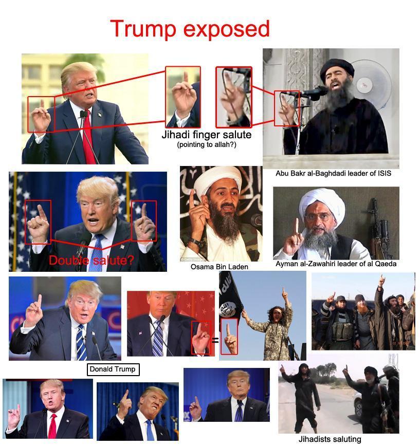 Trump = islâmico??? - meme