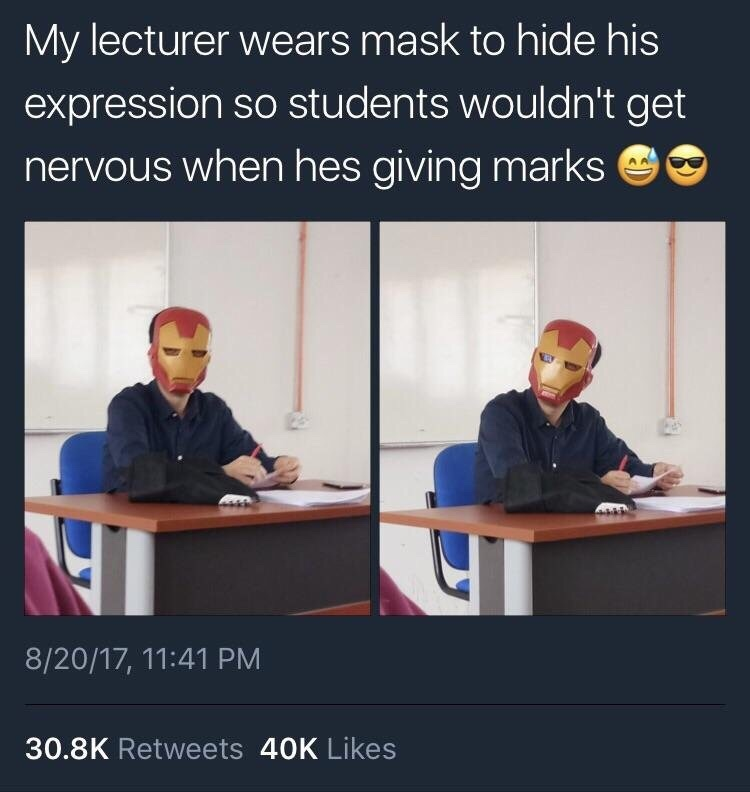 iron teacher - meme