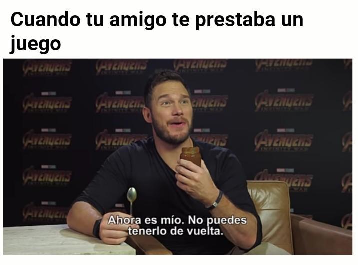 Chris Pratt probando comida latinoamericana - meme