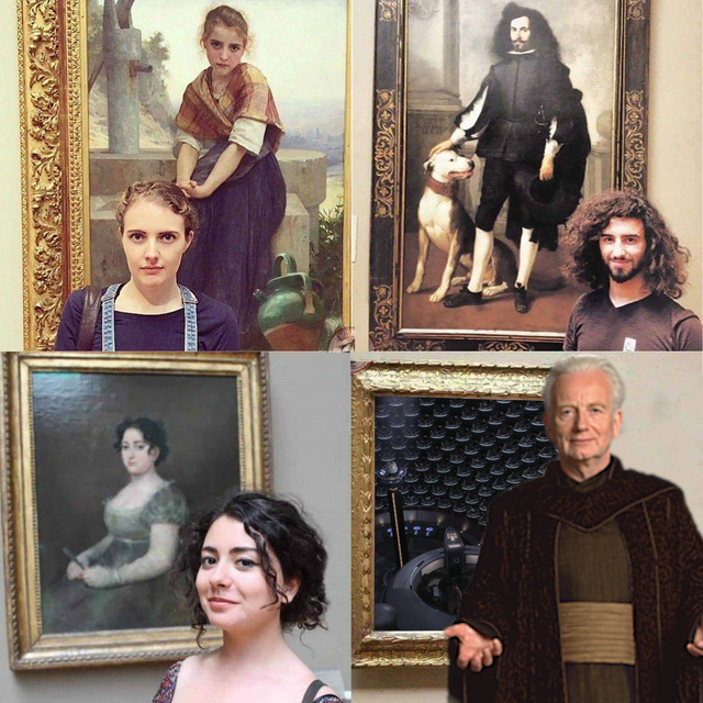 It's amazing that each of these people look like the portraits behind them - meme