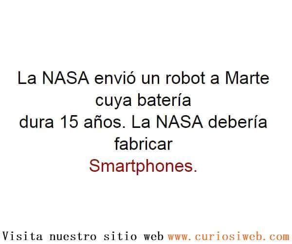 Muchos smartphones de la nasa - meme
